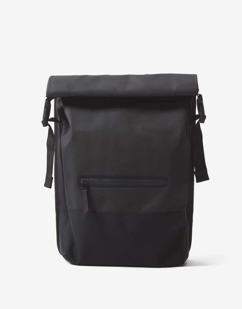 Rains Buckle Rolltop Bag - Black