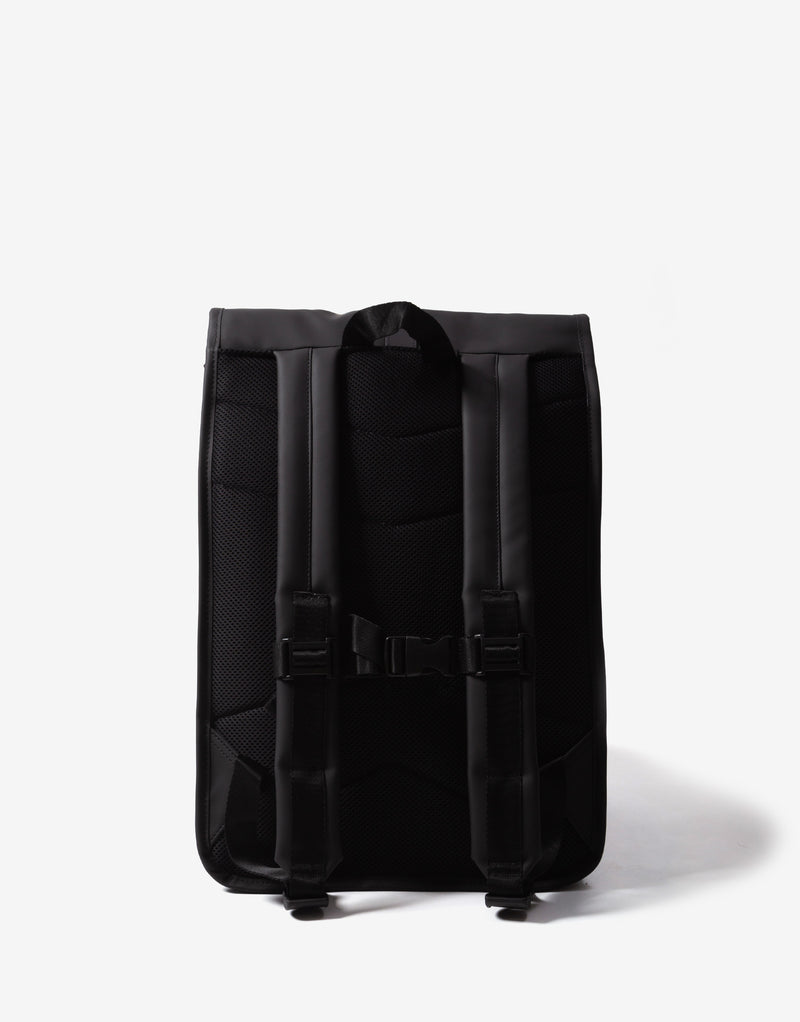 Rains Roll Top Rucksack - Black