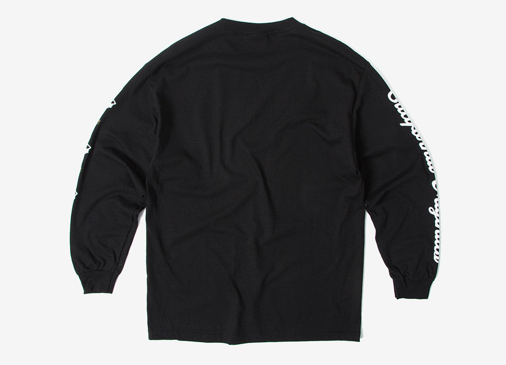 Rebel8 Die Slow Long Sleeve T Shirt - Black