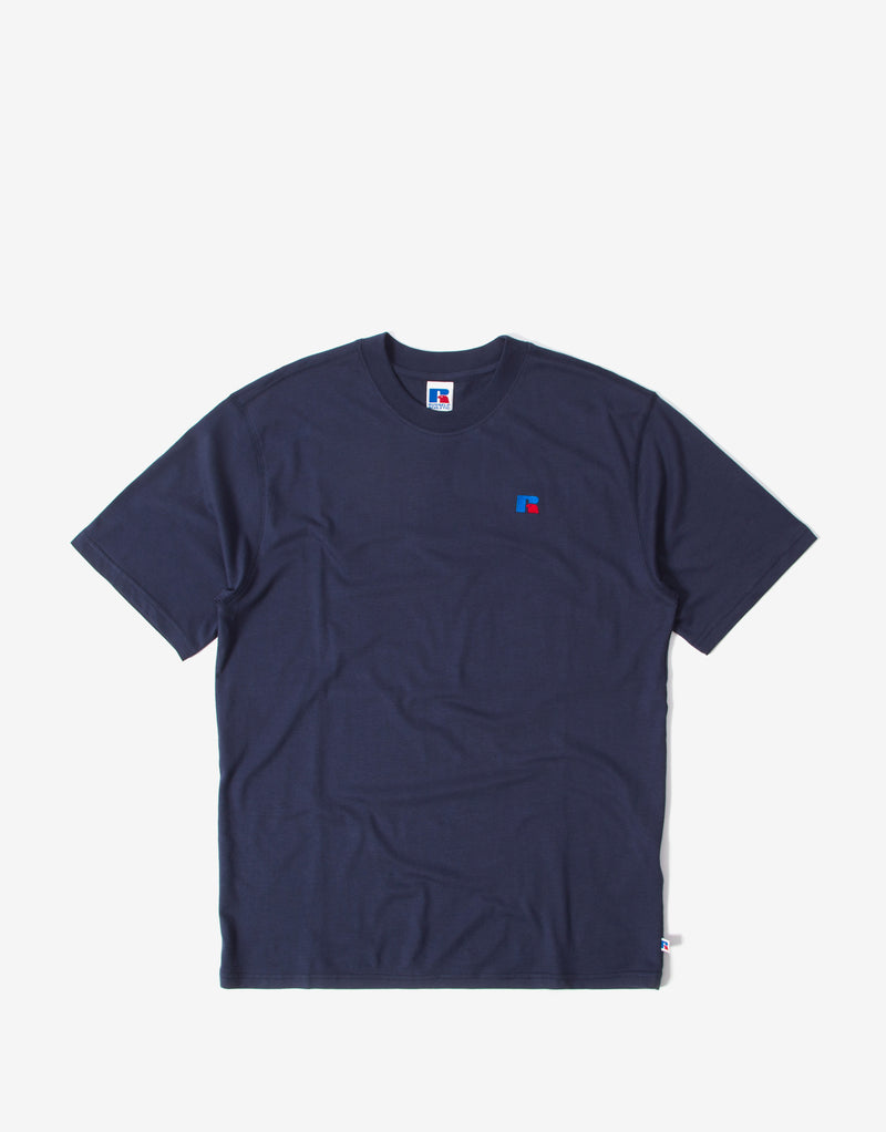 Russell Athletic Regular Baseliners T Shirt - Navy