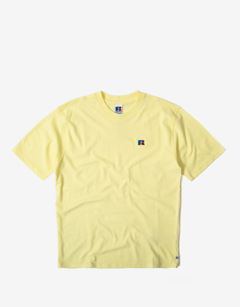 Russell Athletic Regular Baseliners T Shirt - Wax Yellow