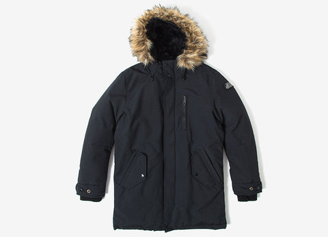 Schott NYC M53 Parka Jacket - Black
