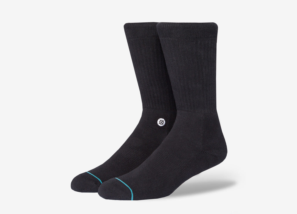 Stance Uncommon Solids Icon Socks - Black/White