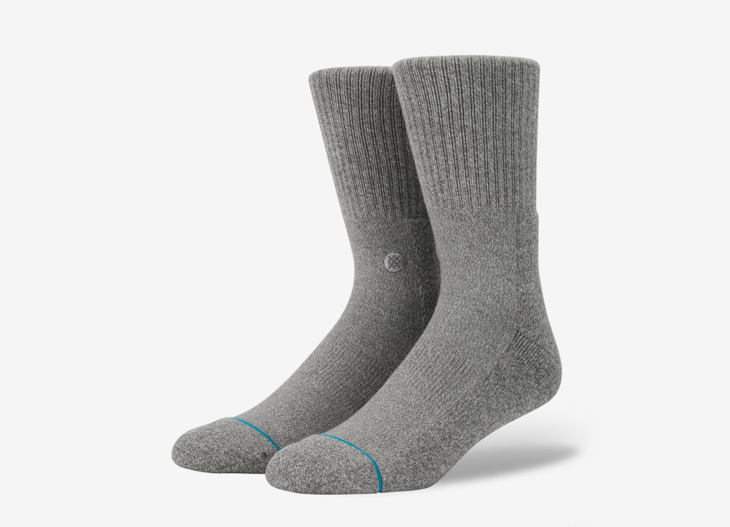 Stance Uncommon Solids Icon Socks - Grey Heather