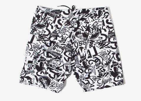 Stussy Tear Trunk - White