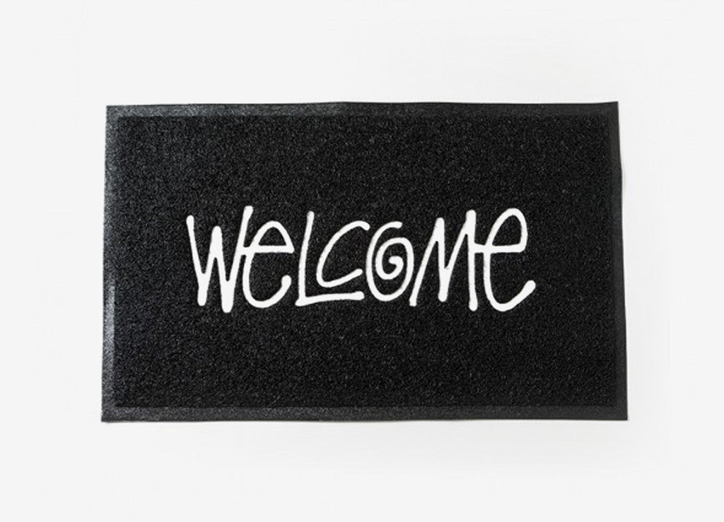 Stussy PVC Welcome Mat - Black