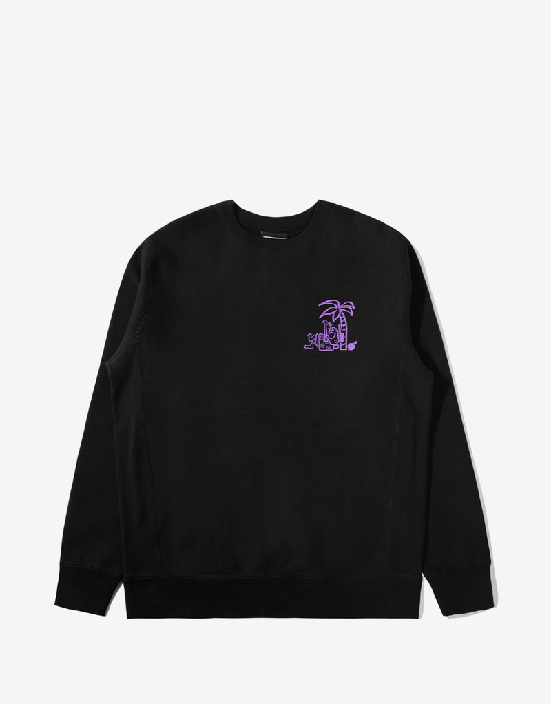 The Hundreds Bum Crewneck - Black