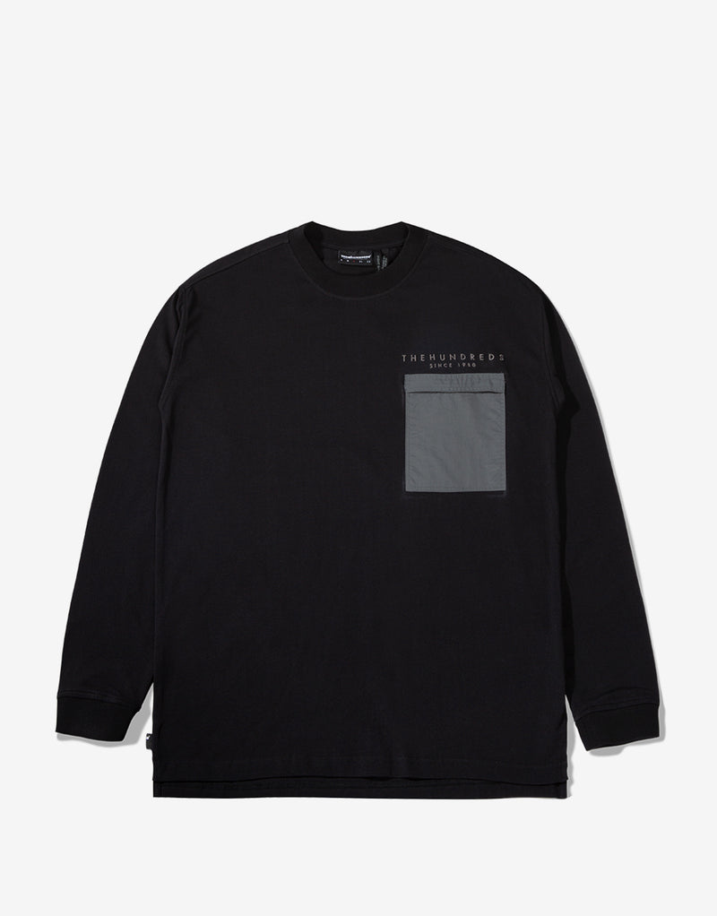 The Hundreds Woodruff Long Sleeve T Shirt - Black