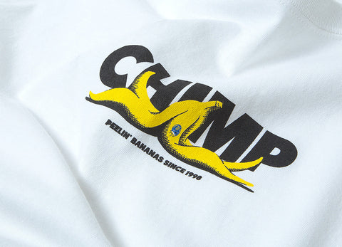 Chimp Banana Slip T Shirt - White
