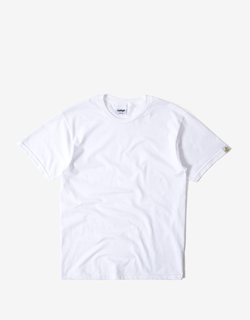 Chimp Heavyweight Premium Basic T Shirt - White