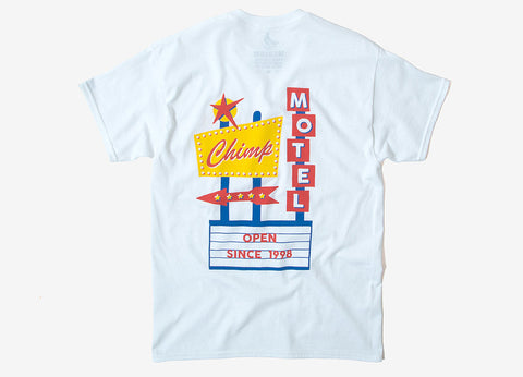 Chimp Motel T Shirt - White