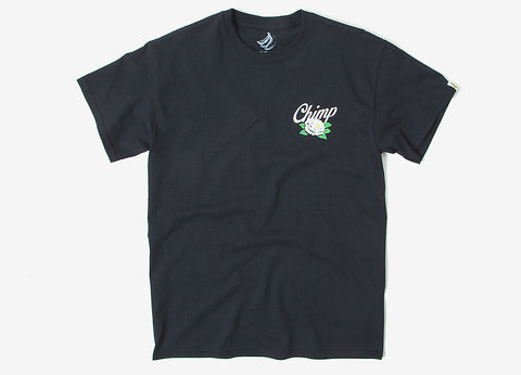 Chimp Rose T Shirt - Black