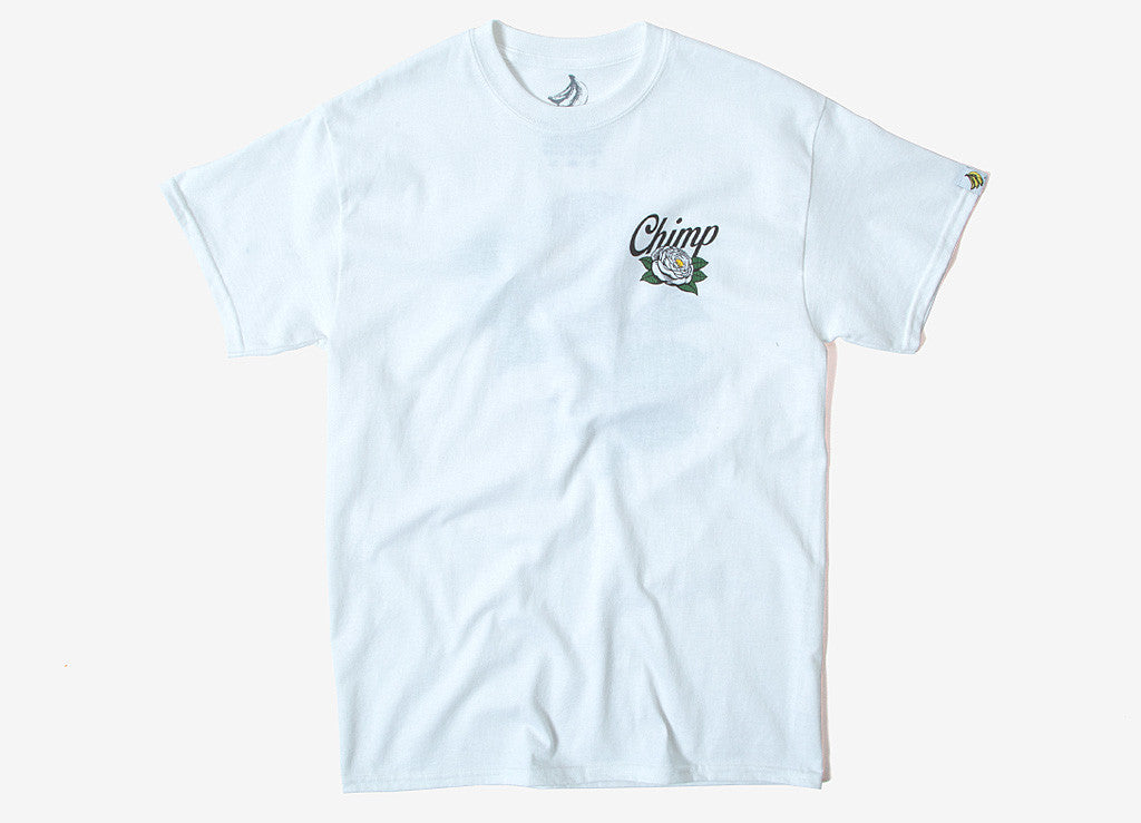 Chimp Rose T Shirt - White