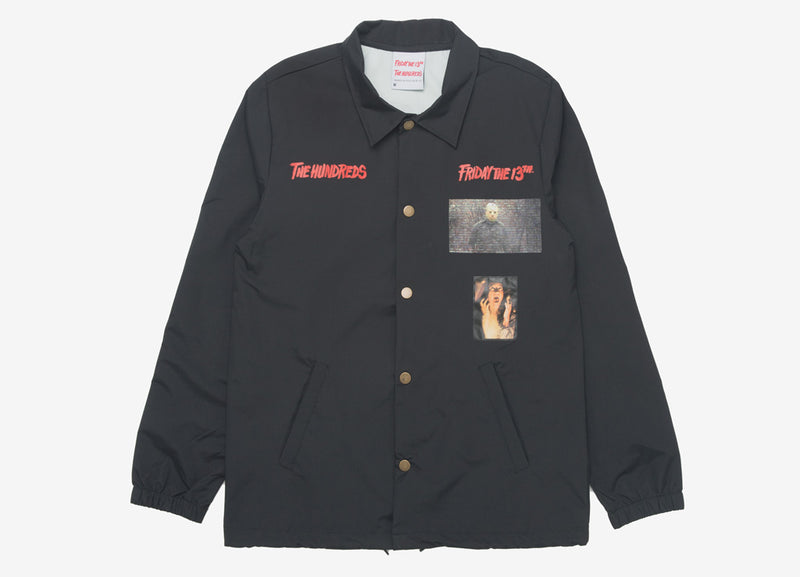 The Hundreds x Friday The 13th Jason Coaches Jacket - Black