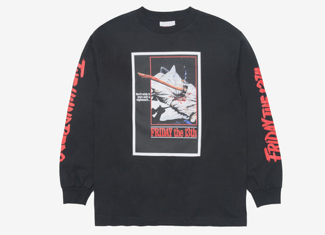 The Hundreds x Friday The 13th Scream L/S T Shirt - Black