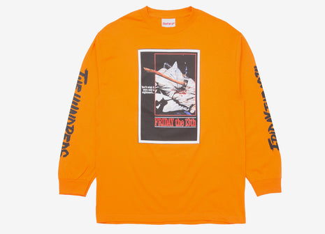 The Hundreds x Friday The 13th Scream L/S T Shirt - Orange