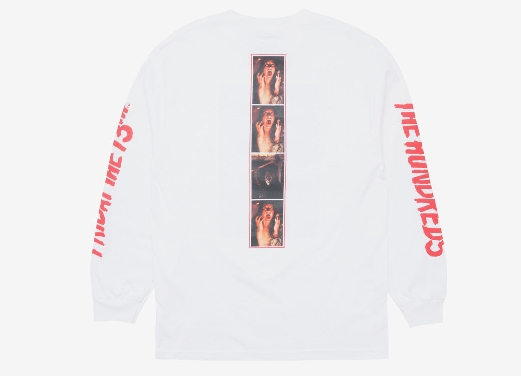 The Hundreds x Friday The 13th Scream L/S T Shirt - White
