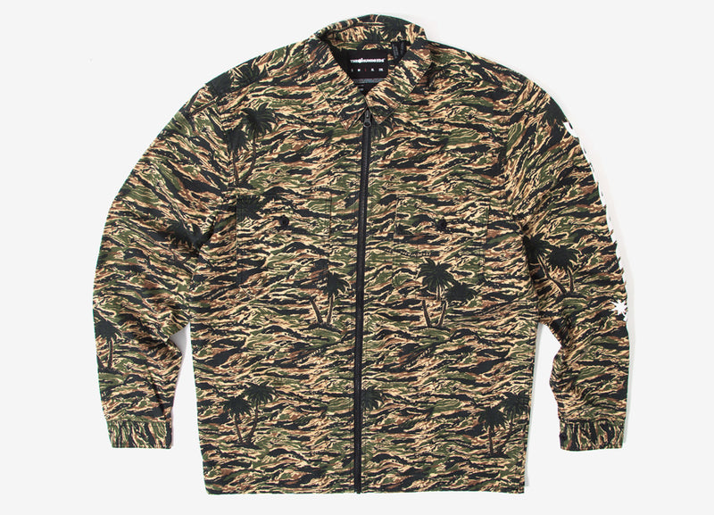The Hundreds Guerrero Zip-Up Shirt - Camo