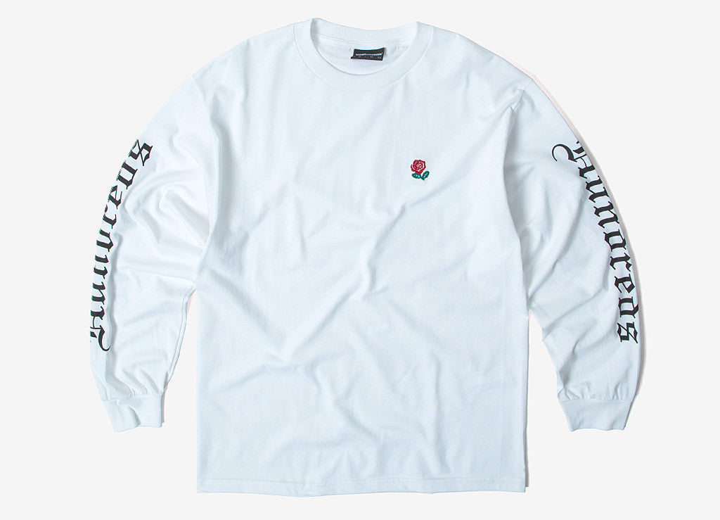 13408bdb The Hundreds Rose English L/S T Shirt in white at The Chimp Store