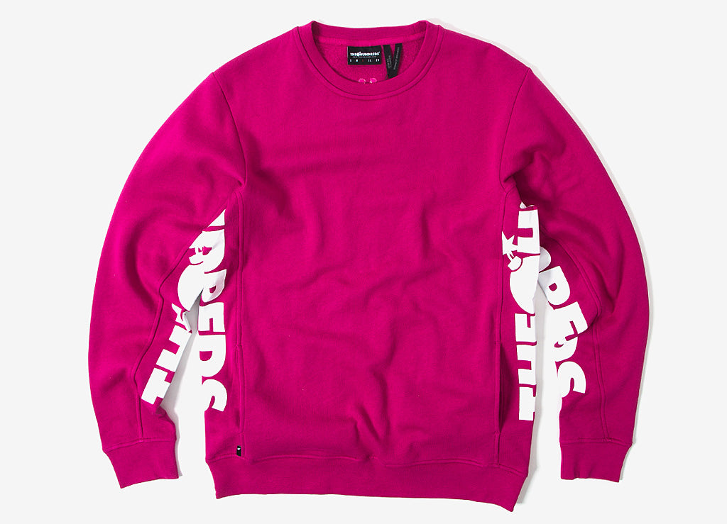 The Hundreds Sidewinder Crewneck Sweatshirt - Fuschia