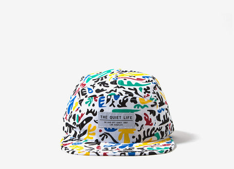 The Quiet Life Matisse 5 Panel Cap - White