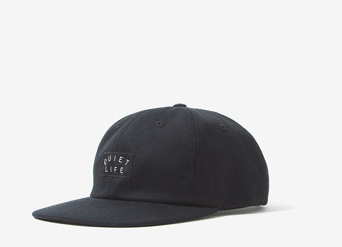 The Quiet Life Field 6 Panel Polo Cap - Black