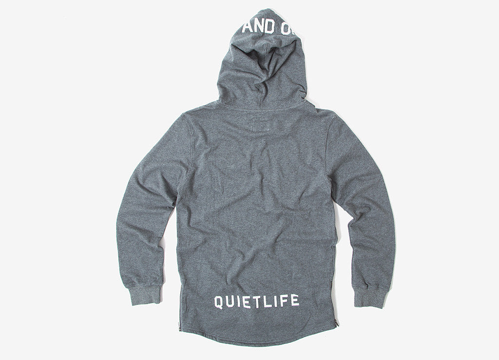 The Quiet Life On And Off Pullover Hoody - Heather Grey