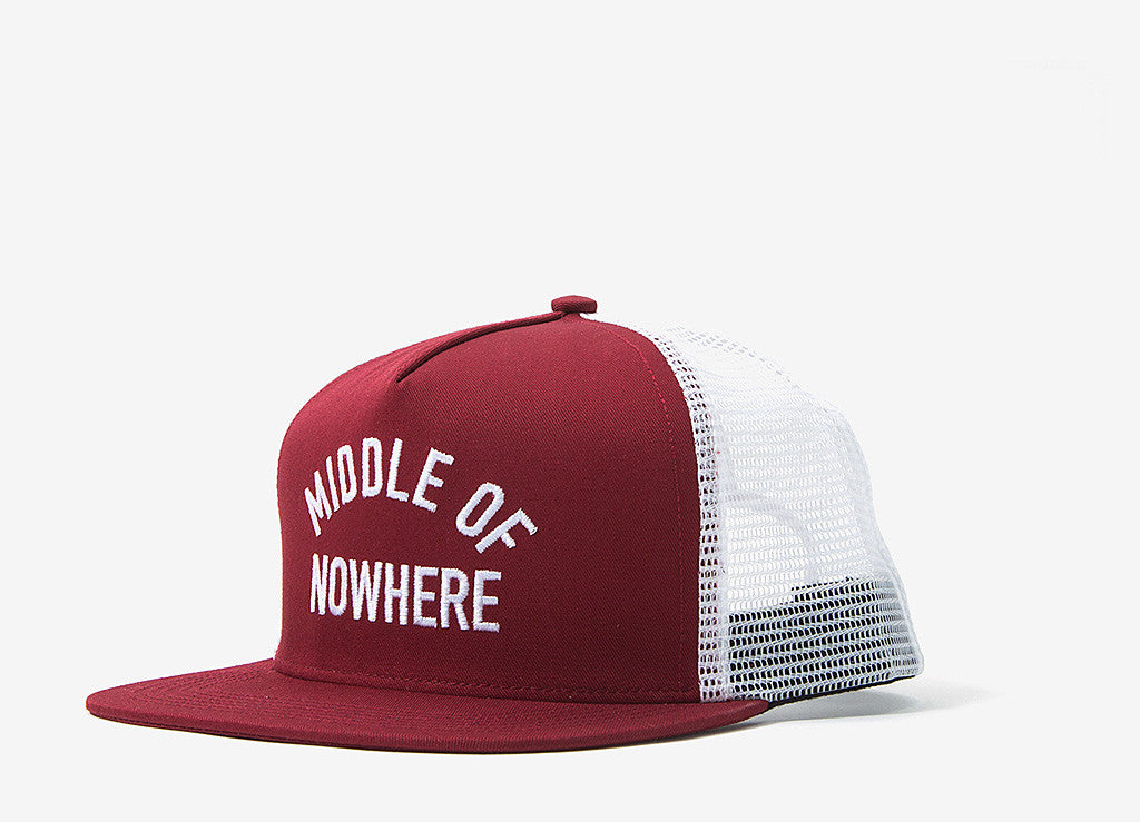 The Quiet Life Middle Of Nowhere Trucker Cap - Cardinal