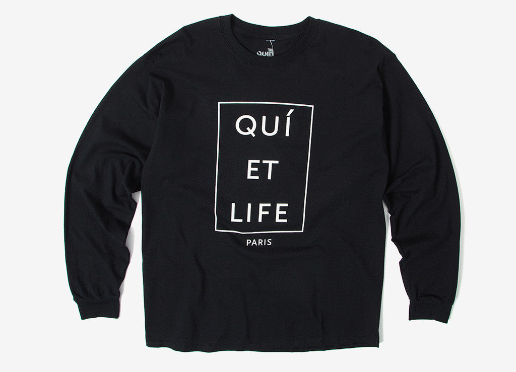 The Quiet Life Paris Long Sleeve T Shirt - Black