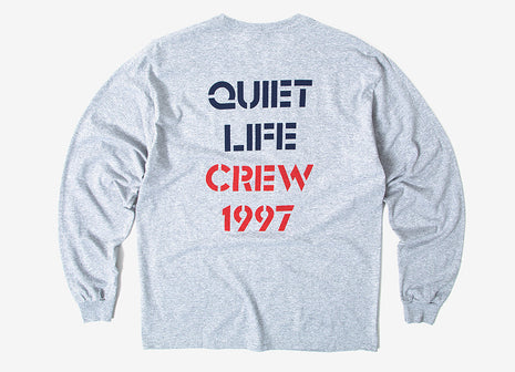 The Quiet Life QL Crew Long Sleeve T Shirt - Heather Grey