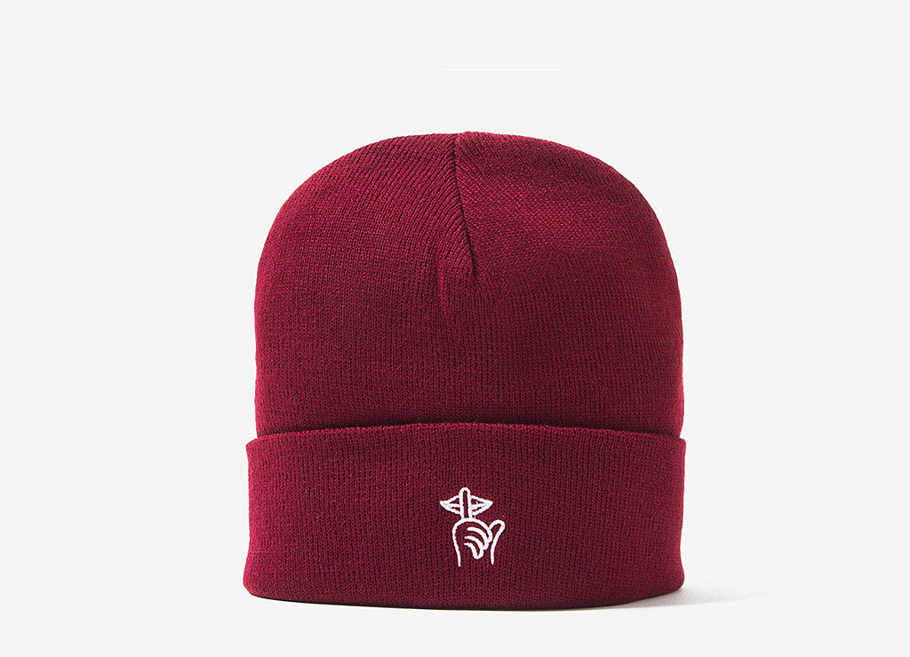 The Quiet Life Sssh Beanie - Maroon