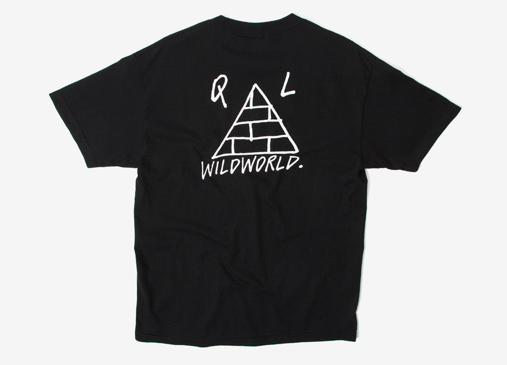 The Quiet Life Wildworld T Shirt - Black