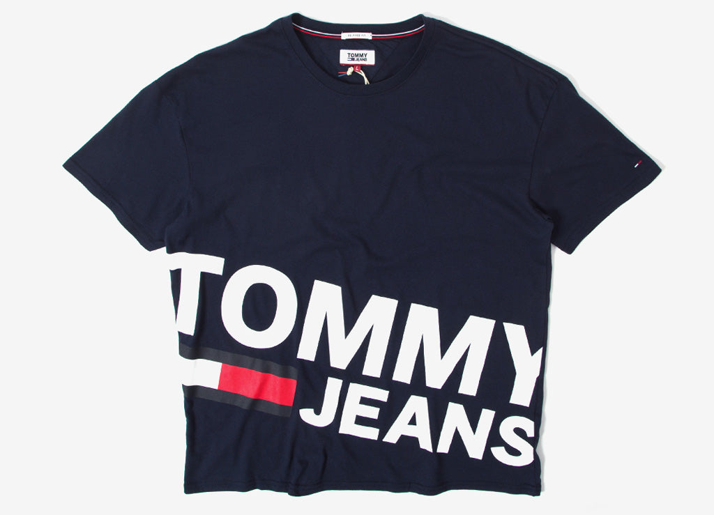 Tommy Jeans Essential Magnified T Shirt - Black Iris