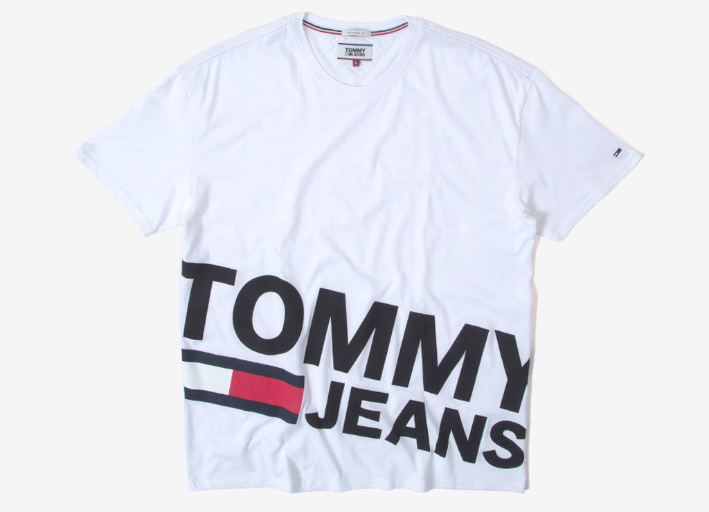 Tommy Jeans Essential Magnified T Shirt - Classic White