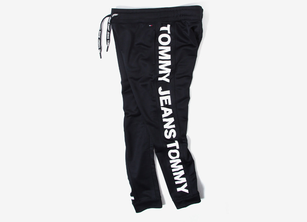 Tommy Jeans Racer Logo Sweatpants - Black