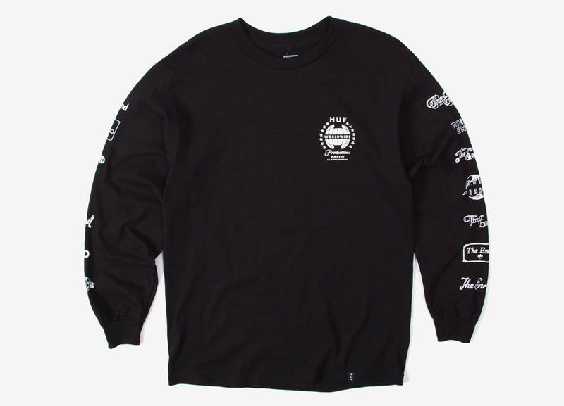 HUF The End Long Sleeve T Shirt - Black
