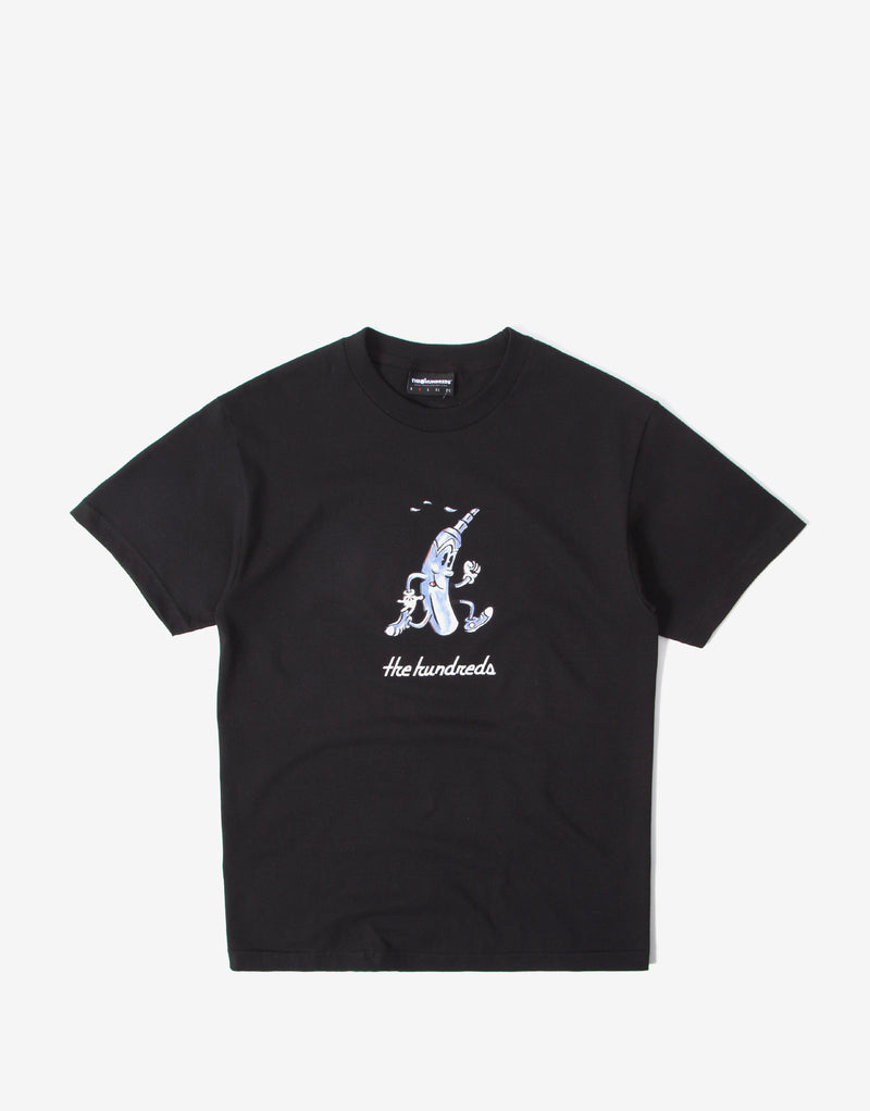The Hundreds Black Lines T Shirt - Black
