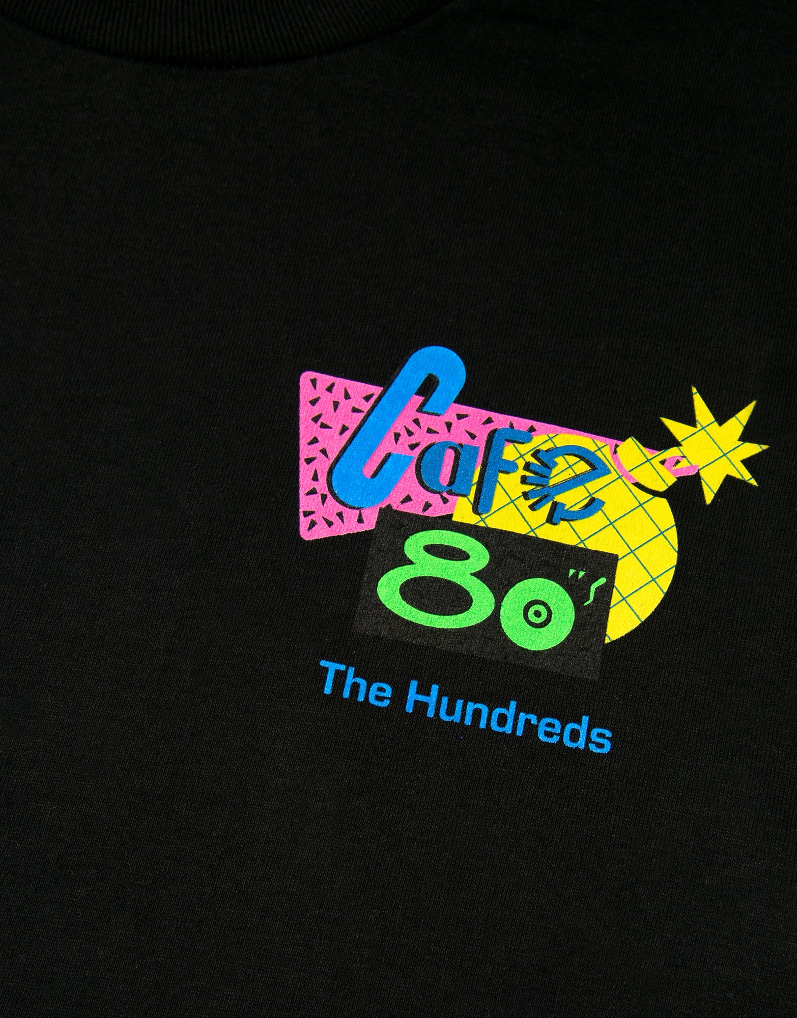 The Hundreds Cafe 80s T Shirt - Black