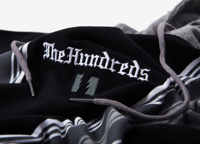 The Hundreds Dozier Hooded Long Sleeve T Shirt - Black