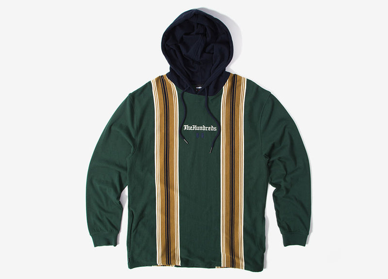 The Hundreds Dozier Hooded Long Sleeve T Shirt - Hunter Green