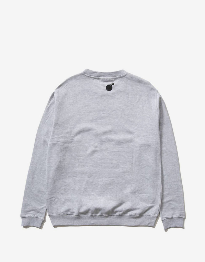 The Hundreds Forever Bar Logo Crewneck - Athletic Heather