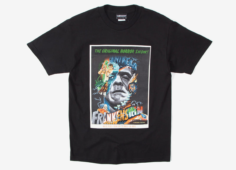 The Hundreds x Tristan Eaton Frankenstein Horror T Shirt - Black