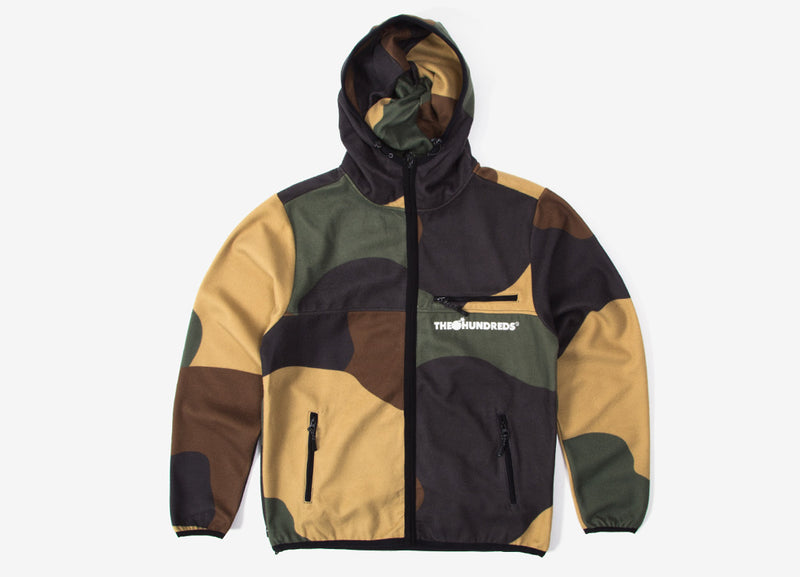 The Hundreds Hideaway Zip Hoody - Camo