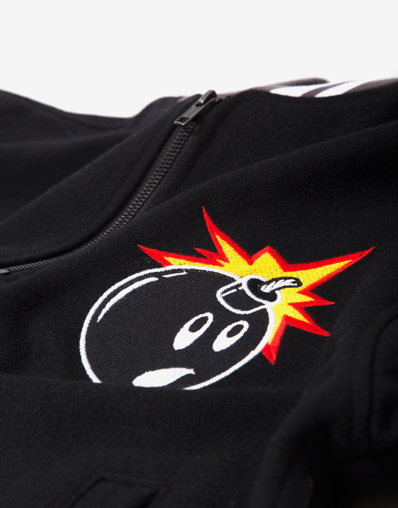 The Hundreds Legacy Half Zip - Black
