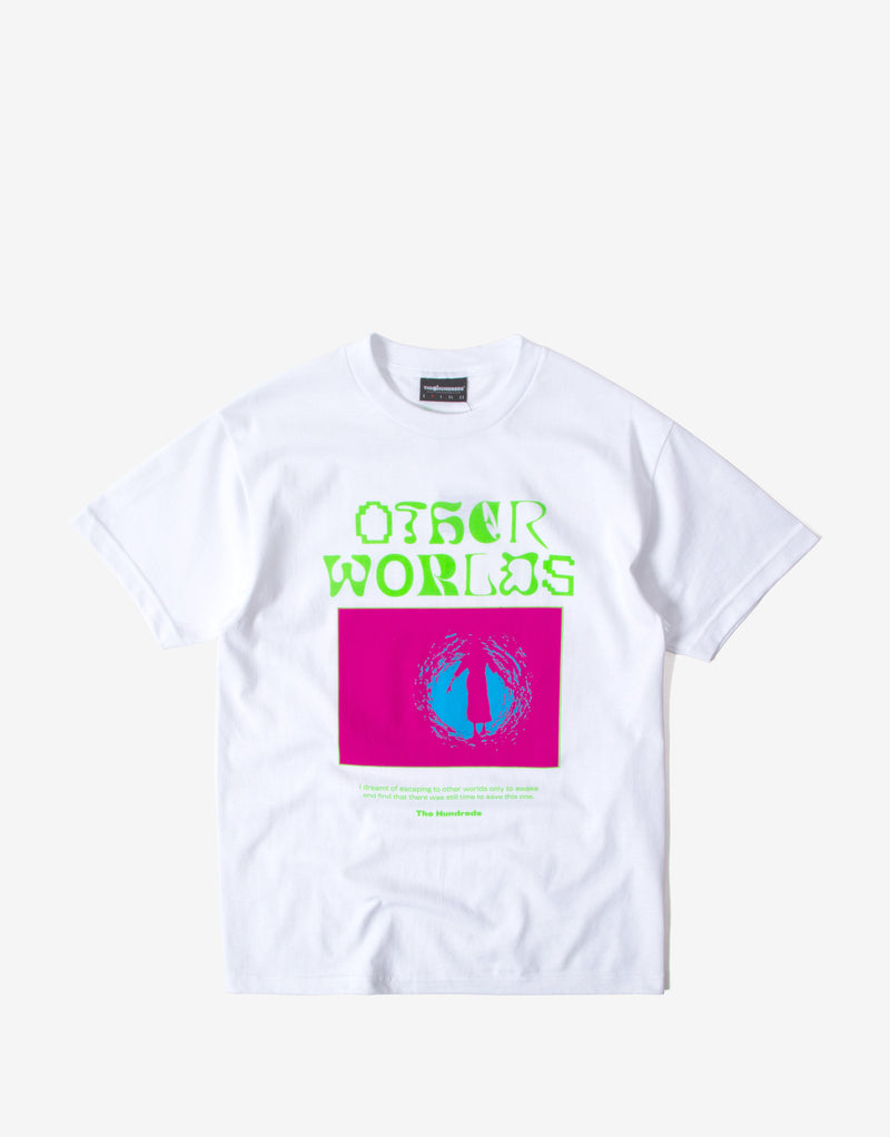 The Hundreds Other Worlds T Shirt - White