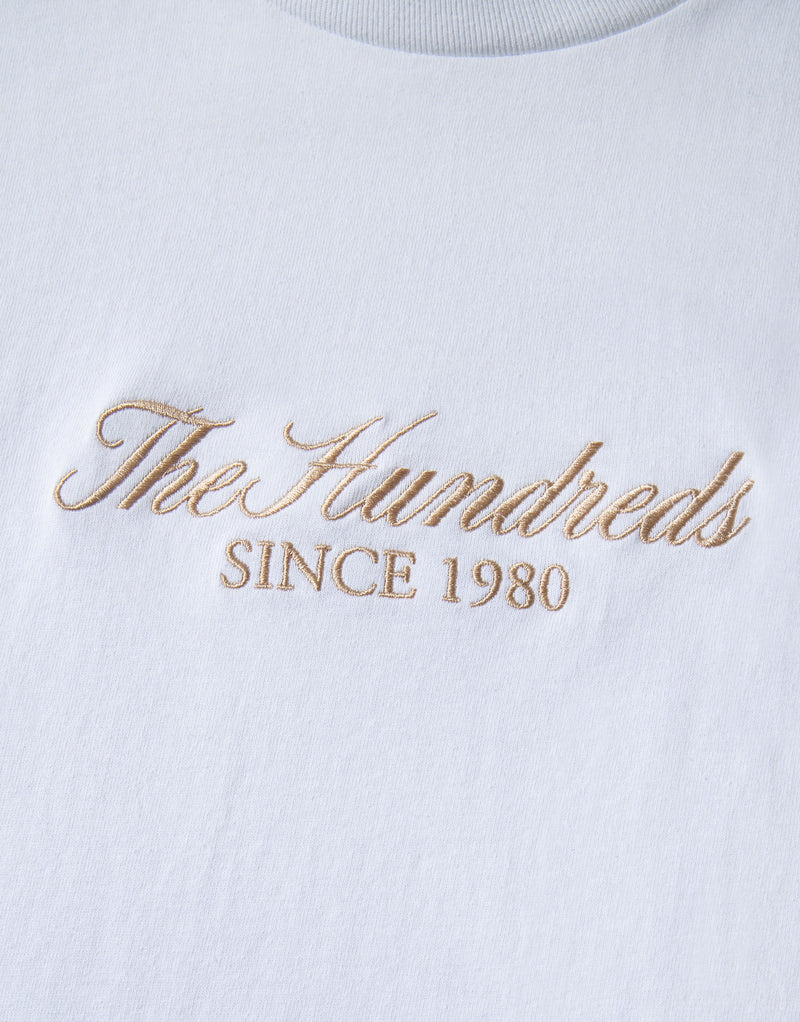 The Hundreds Rich Embroidery T Shirt - White