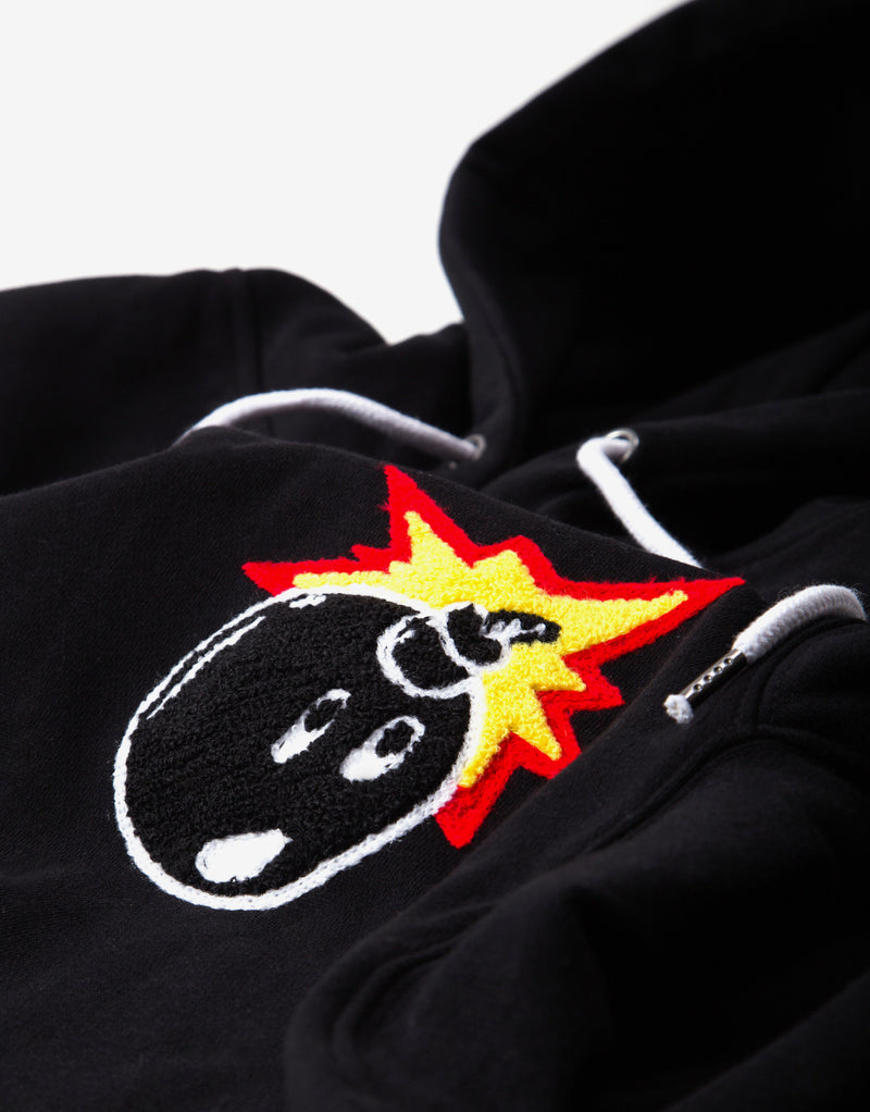 The Hundreds Switchback Pullover Hoody - Black