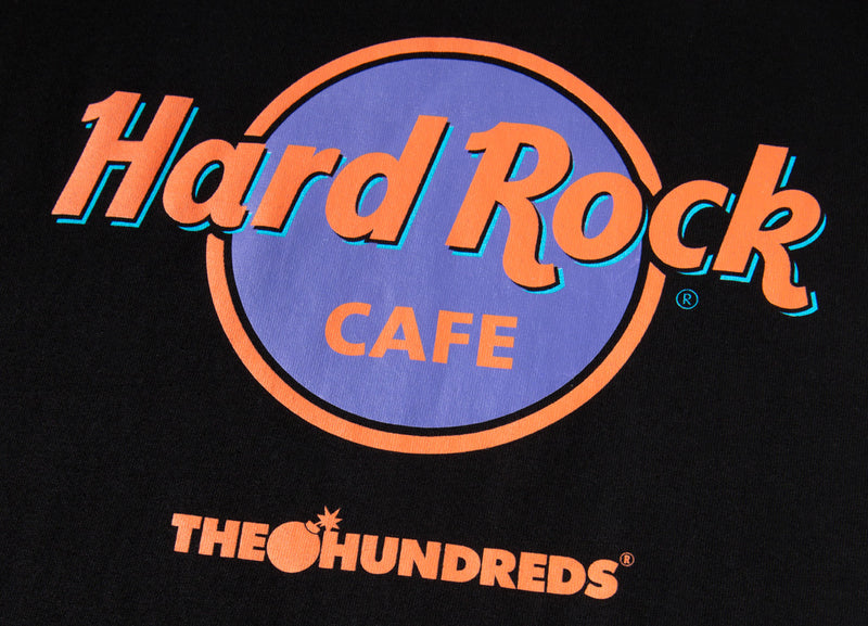 The Hundreds x Hard Rock Cafe Cafe T Shirt - Black