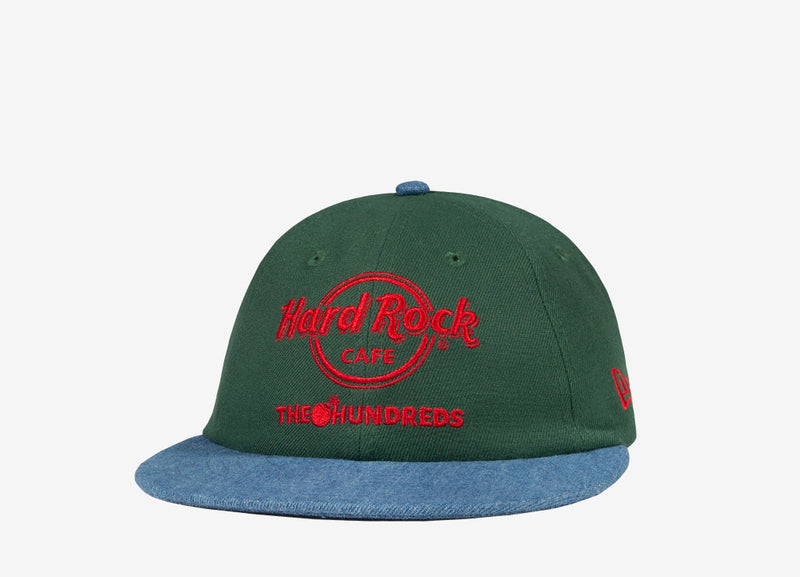 The Hundreds x Hard Rock Cafe Denim New Era Cap - Moss