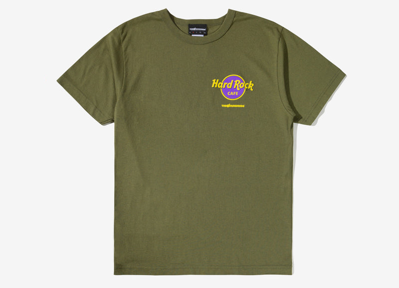 The Hundreds x Hard Rock Cafe Save The Planet T Shirt - Moss